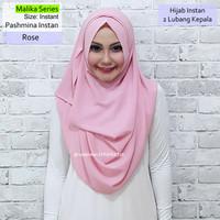 Pashmina Instan Malika Series Rose | hijab vanilla ghaida kerudung osi