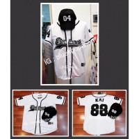 Set Kpop Jersey EXORDIUM Dan Topi Baseball EXO