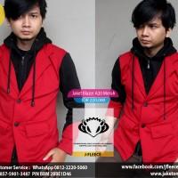 Jaket Blazer A20 Merah Hitam