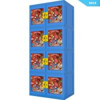 harga Lemari Plastik/Lemari Container/Lemari Pakaian SPIDERMAN 3D 4 SUSUN Tokopedia.com