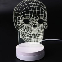 harga Viper Lampu Tidur Malam 3D LED Lamp Transparan Design Tengkorak Tokopedia.com