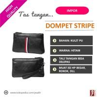 Tas Tangan Pria /Hand Bag /Clutch Korea Impor Kulit Original. -STRIPE-