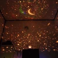 Lampu Tidur Proyektor Star Master Bulan Bintang Putar Musik + Adaptor