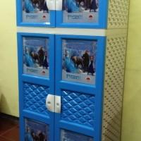 KHUSUS SURABAYA (VIA GOJEK) Lemari Plastik / Gantungan - Frozen Blue
