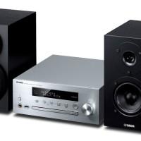 harga Yamaha MCR-N470 Micro HiFi Silver/Hitam (CRX-N470 siver + NS-BP182 Bk) Tokopedia.com