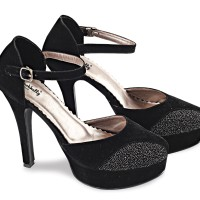Sepatu High Heels Blackkelly  - Mary Black LCPx092