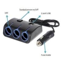 harga Socket Lighter 3 in 1 mobil Aksesories Mobil Tokopedia.com