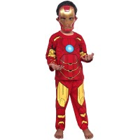 Jual Baju Anak Kostum Topeng Superhero Iron Man Lengkap atas bawah+Topeng Murah