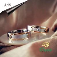 Cincin Kawin Tunangan Perak Couple J.15