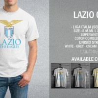 Kaos Lazio 01 T-Shirt Raglan Bola Baju Football Club SS
