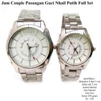 jam tangan pasangan guci nhail couple putih fullset