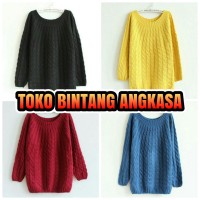 Sweater musim dingin import (wool rajut)