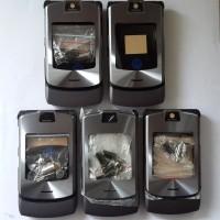 Case Casing Kesing Housing Motorola V3i Grey Fullset