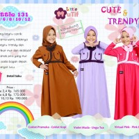 Baju Gamis Kaos Anak Muslimah Murah Mutif Little 131
