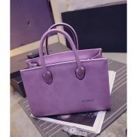tas handbags shoulder bags semiformal wanita ngantor kerja ungu super