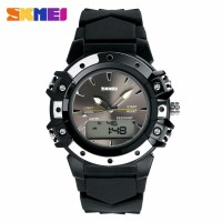 PROMO Jam tangan SKMEI AD 0821 Original STYLER Dual time sporty black
