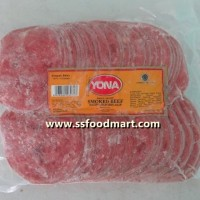 Khusus GOJEK-GOSEND - Yona Daging Sapi Iris Asap (Smoked Beef) 1 Kg