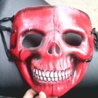 masker 3d topeng fullface tengkorak red skull tomb raider