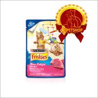 Friskies pouch Kitten Tuna 80 gram / wet food / Makanan kucing basah
