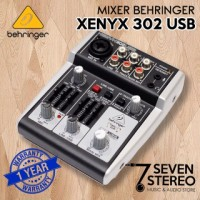MIXER BEHRINGER XENYX 302USB with audio interface