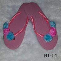 harga Sandal Jepit Pita Mawar Pink Rt-01 Tokopedia.com
