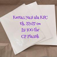 Kertas Nasi | Wrapper ala KFC Uk. 22x27 cm (isi 100 lbr)