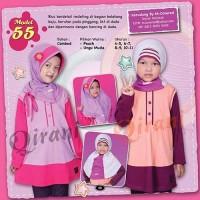 Baju Muslim Anak Gamis Murah QIRANI KIDS QK-55