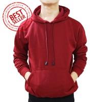 Jual Jaket Sweater Hoodie Polos Jumper Merah Maroon Murah