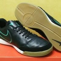 sepatu futsal nike tiempo x genio II leather hitam ic grade ori import