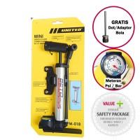 Jual Pompa Ban Sepeda Mini United  Meteran PM-018 - Smart Pump Murah