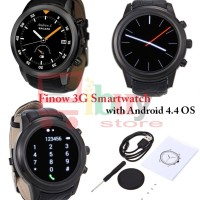 'FINOW X5' 3G Android 4.4 MTK6572 Dual Core Smartwatch Phone - BLACK