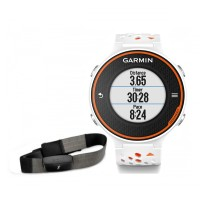 Garmin FORERUNNER 620 White / Orange Bundle With HRM