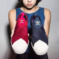 Sepatu Sport Casual Wanita ADIDAS Superstar Slip On Slop Original