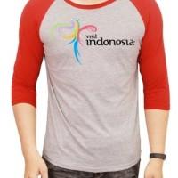 Kaos Raglan Visit Indonesia uk Anak & Dewasa ( 3 - L )