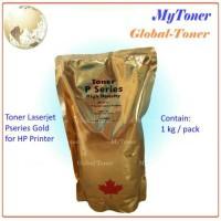 SERBUK / BUBUK TONER REFILL PRINTER LASERJET HP 35A P1505 P1006 GOLD
