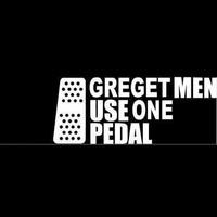 car vinyl decal sticker greget men use one pedal