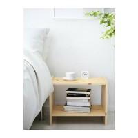 Ikea Rast Meja Samping Tempat Tidur, Meja Kecil, Kayu Pinus, 52x30cm