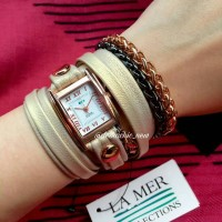 La Mer Collections Watch - Comet Shimmer Rose Gold Gunmetal Watch