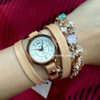 La Mer Collections Watch - Portugal Crystal Coppertone Wrap Watch