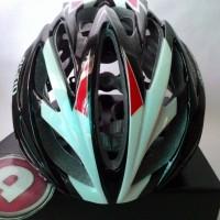 Helm Sepeda Merk GIRO Livestrong - Merah Hitam Diskon