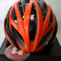 Helm Sepeda Giro Livestrong - Orange Hitam Berkualitas