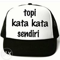 Topi Truker Topi Kata-Kata Sendiri