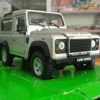 Welly Nex Models Land Rover Defender Silver