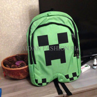 Minecraft Creeper Backpack / Tas Ransel / Tas Sekolah (Import)
