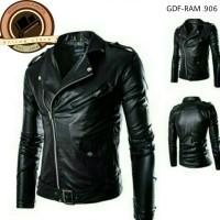 Jual jaket semi kulit bikers/ jaket bikers klasik rock N roll Murah