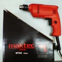 Mesin Bor 10 Mm Maktec MT60 / Mesin Bor Bolak Balik 10 Mm Maktec