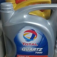 Oli Total SAE 10W-40 API SM QUARTZ 7000 Galon 4 Liter