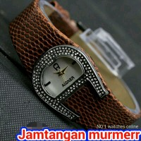 JAM TANGAN WANITA / AIGNER LEATHER COKLAT SUPER