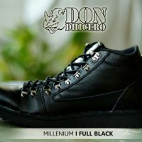 SEPATU ORIGINAL DONDICHERO MILLENIUM SEMI BOOTS FULL BLACK