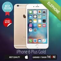 APPLE IPHONE 6 PLUS 64GB GOLD GSM ORIGINAL GARANSI DISTRIBUTOR  1TAHUN